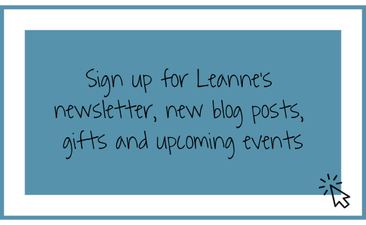 Leanne's newsletter sign up